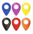 Set of Map Marker Icons vector image