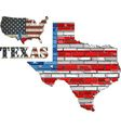USA state of Texas on a brick wall vector image