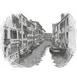 Venice canal sketch vector image