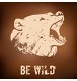 Big black bear roaring vector image