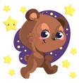 funny cute go bed cartoon bear clipart with vector image