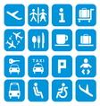 Airport icons - pictogram set