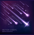 1609i029024Sm005c15meteors comets background vector image