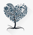 Abstract Heart Shaped Tree with Roots vector image vector image
