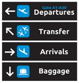 Airport Signs vector image