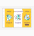 anti-trafficking policy elements onboarding vector image vector image