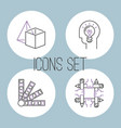 art icons set design linear vector image vector image