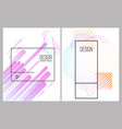 banner design templates with abstract vibrant vector image vector image