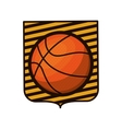 basketball tournament emblem with ball vector image vector image