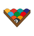 billiard balls isolated vector image vector image
