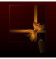 Black gift box vector image vector image