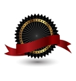 black label with red ribbon vector image
