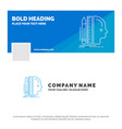 blue business logo template for design human vector image