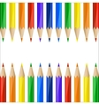 Border made of colorful pencils vector image