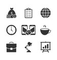 business black icons vector image vector image
