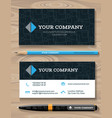 business card and promotional gift template vector image vector image
