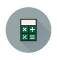 calculator icon on round background vector image vector image