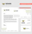 cart business letterhead envelope and visiting vector image vector image