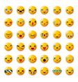 cheerful emoticon cute smile facial emotion emoji vector image vector image