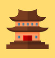 chinese pagoda temple graphic vector image vector image