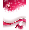 Christmas design with glass balls vector image