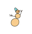 christmas theme with snowman set of christmas vector image