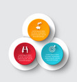 Circle infographic with 3 options or parts vector image
