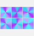 collection blue conical gradients vector image vector image
