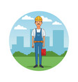 construction builder cartoon vector image