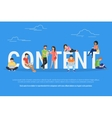 Content concept vector image