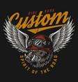 custom motorcycle vintage colorful badge vector image vector image