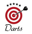 Darts sporting emblem vector image vector image