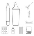 design of office and supply icon set of vector image vector image