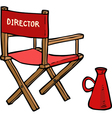 director chair vector image vector image