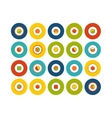 Flat icons set 17 vector image