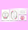 floral wedding invitation bundle with golden vector image vector image