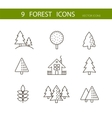 Forest icons set Trees icons vector image vector image