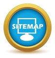 Gold sitemap icon