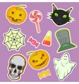 Halloween decoration attributes image vector image vector image