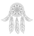 hand drawn of ethnic dream catcher vector image