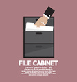 Hand Picking A Document From A File Cabinet vector image