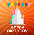 Happy Birthday Paper Cut Cake with Candles and vector image vector image