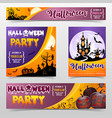 happy halloween scary festival poster banner vector image