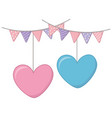 heart hanging and pendants vector image vector image