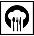 icon with chef hat vector image vector image