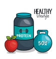 icons healthy lifestyle design vector image