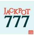 Jackpot 777 icon vector image vector image