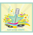 karaoke party design vector image