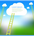 ladder to clouds template vector image vector image