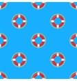 Lifebuoy Icon Nautical Pattern on Blue vector image